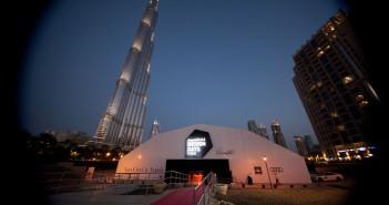 Tent exterior of Design Days Dubai 2014.